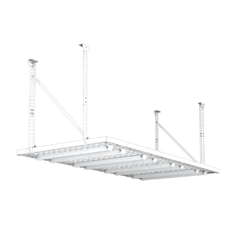 HyLoft 164 96-Inch by 48-Inch Super Pro Ceiling Mount Shelf, White (Hyloft Garage)