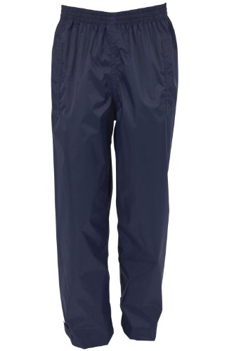 Mountain Warehouse Pakka Kids Fold Away Protective Rain Pants Navy 9-10 years