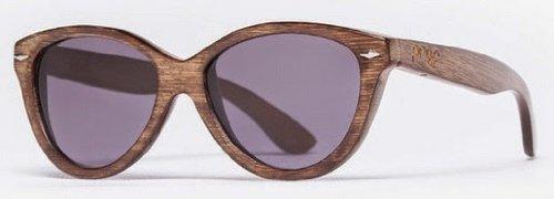 Proof Eyewear Unisex Pledge Black Maple Kush Wood Handcrafted Water Resistant Wooden Sunglasses,  Stained,  55 - Box Custom Sunglasses