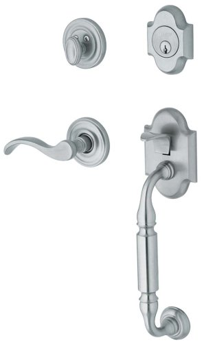 - Baldwin 85305.260.RENT Canterbury Sectional Trim Right Hand Handleset with Wave Lever, Chrome