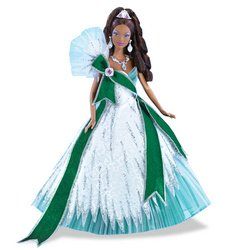 2005 Holiday Barbie - Emerald (Ethnic) - Bob Mackie Holiday Barbie