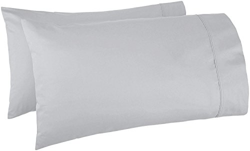 Thread Spread 100 Egyptian Cotton 1000 Thread Count Ultra Soft Pillow Case Set Durable And Silky Soft Standard Pillowcase Silver