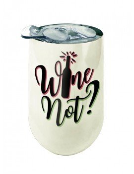 Spoontiques 16939 Girls Night in Stainless Wine Tumbler Red