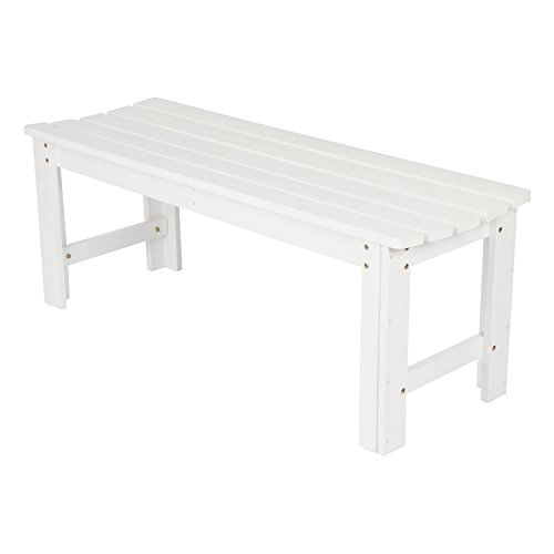 Shine Company Inc. 4204WT Backless Garden Bench, 4 Ft, White ()