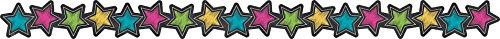 (Teacher Created Resources (3569) Chalkboard Brights Stars Die-Cut Border)