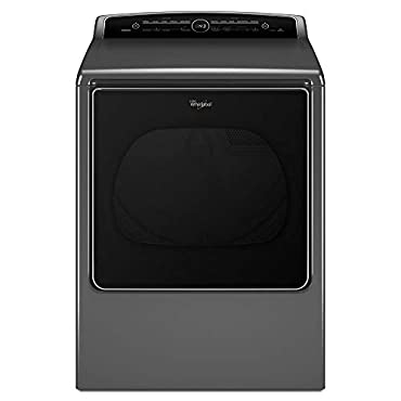Whirlpool WED8500DC Cabrio 8.8 Cu. Ft. Chrome Shadow Electric With Steam Cycle Dryer