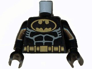 - Lego BATMAN Minifig Torso - NEW in Black