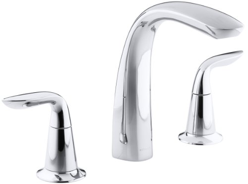 KOHLER K-T5323-4-CP Refinia Bath Faucet Trim, Valve Not Included, Polished Chrome - 4 Mount Deck Bath Faucet