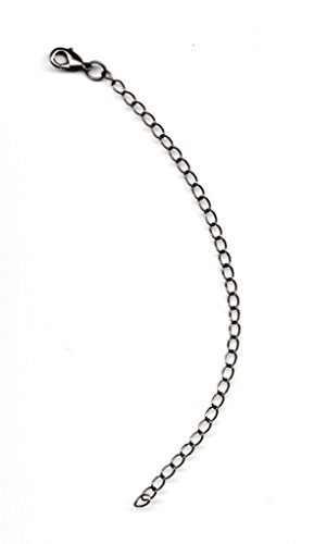 (KaShDa Gunmetal Plated 4MM Curb Chain Necklace Extender 12MM Lobster Claw Clasp 1