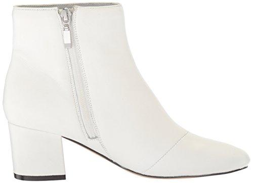 Ankle Block Heel Fix Women's Leather Boot Bootie White Bright The Daniella w6q4URx