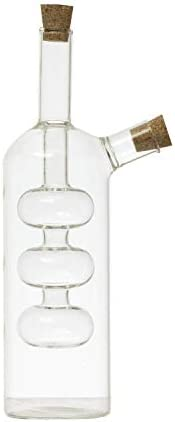 Creative Co-op Hand-Blown Glass Oil and Vinegar Cruet, Translucent