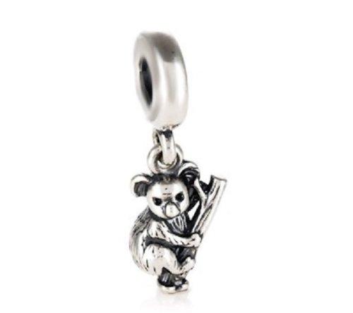 "Highest Quality Authentic EvesErose Silver ""Koala Bear"" Bead Sterling Charm Fits Pandora & Similar Bracelets"