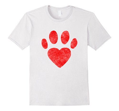 Valentine Dog Shirt Valentines Day Gift for Him Her Kids Paw