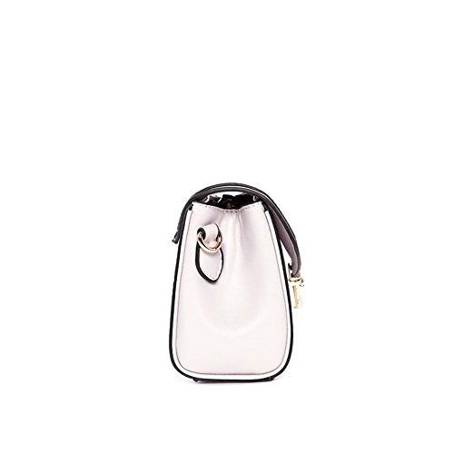 Bag Messenger Shoulder Square Bag White Leisure Lock Retro Pu Simple qxFwf4PH