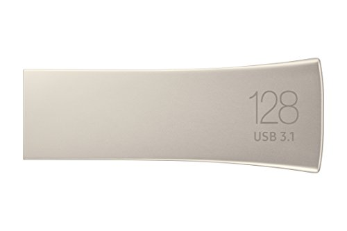 Samsung-BAR-Plus-USB-31-Flash-Drive-128GB-300MBs-MUF-128BE3AM-Champagne-Silver