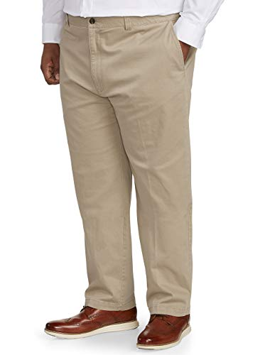 Amazon Essentials Men's Big & Tall Relaxed-fit Casual Stretch Khaki Pant fit by DXL, 60W x 34L