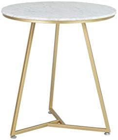Beperkt Nieuw L-Life bijzettafel, kleine ronde tafel, van marmer, bijzettafel, vrijetijdstafel, smeedijzer, salontafel  cg2WcTZ