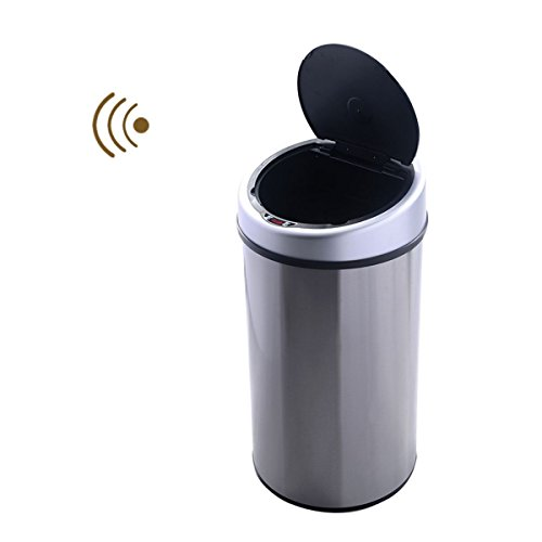 Touchless Automatic Infrared Sensor Trash Can 13.2 Gallon Stainless Steel