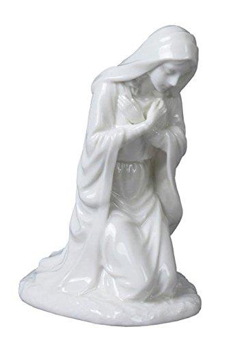 6インチすべてホワイト磁器Nativity Figurine Virgin Mary in Prayer B00508N08Q