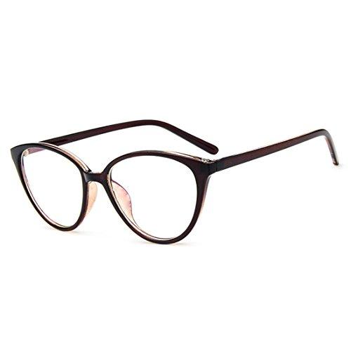 D.King Women Optical Cat Eye Glasses Vintage Fashion Mod Clear Lens Eyeglasses Eyewear Tea