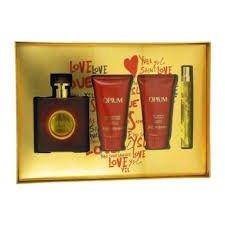 Opium For Women Gift Set 1.6 EDT Spray, 1.6 Body Lotion, 1.6 Fl Oz Shower Gel, 0.33 EDT Spray For Women Gift Set