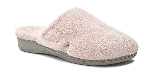 - Vionic Indulge Gemma Women Round Toe Slipper, Pink, 9 B(M) US