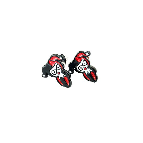 Athena DC Harley Quinn Logo Superhero Comics Cartoon Post Stud Earrings In Gift Box (Captain Kirk Outfit)