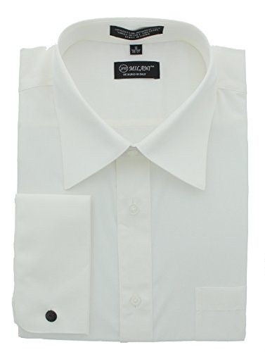 ivory dress shirt with french cuffs - 6