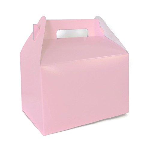 Pink Gift Boxes, Large 9 x 6 x 6 Gable Boxes- Pastel Pink Set of -