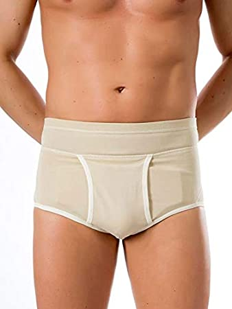 BeFit24® Slip para Hernia Inguinal para Hombres - [ Size 6 - Beige ]