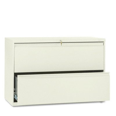 HON 882LL 800 Series 36-Inch by 19-1/4-Inch 2-Drawer Lateral File, Putty
