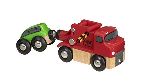 BRIO World - 33528 Trusty Tow Truck | Fun Magnetic Toy for Kids Ages 3 and Up