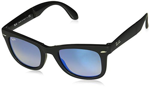 Ray-Ban, RB4105, Folding Wayfarer, Matte Black...