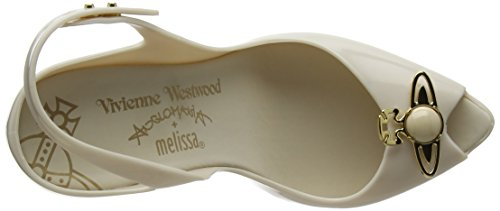 cheap sale websites Vivienne Westwood & Melissa Women's Vw Lady Dragon 18 Sling Back Heels Off-white (Ivory Pearl Orb) sale 2014 new shopping online for sale largest supplier zwJqY6XU