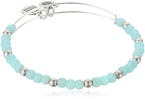 Alex and Ani Color Classics, Bluebell/Rafaelian Silver Bangle Bracelet