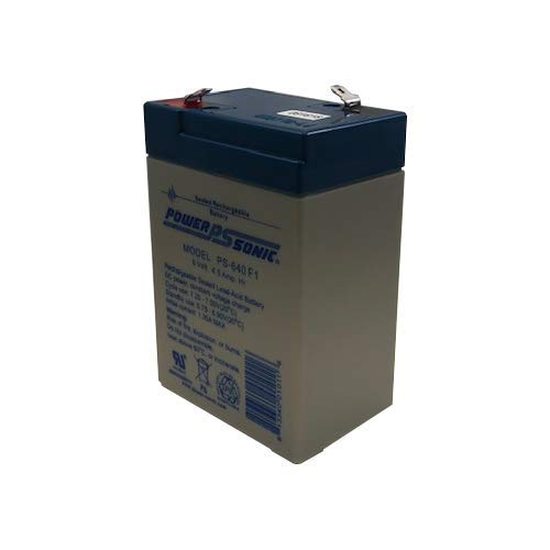 Powersonic PS-640F1 - 6 Volt/4.5 Amp Hour Sealed Lead Acid Battery with 0.187 Fast-on Connector ()