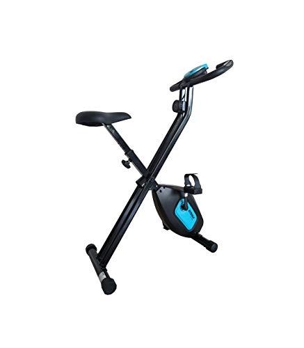 Care Fit SV-316 hometrainer, inklapbaar, 7 functies, vliegmassa 4 kg, magnetische rem, hartslagmeter, fiets-design en…