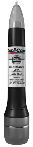 Price comparison product image Dupli-Color AVW2041 Candy White Volkswagen Exact-Match Scratch Fix All-in-1 Touch-Up Paint - 0.5 oz (0.25 oz. paint color and 0.25 oz. of clear)