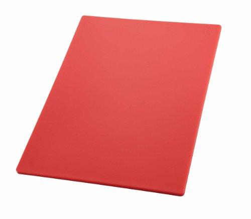 Winco CBRD-1218 Red 12 x 18 x 1/2 Cutting Board