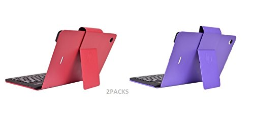 HP T1000 Keyboard And Folio Case Bluetooth Flyer Red And Irish Purple Case - For HP 10 G2 2301