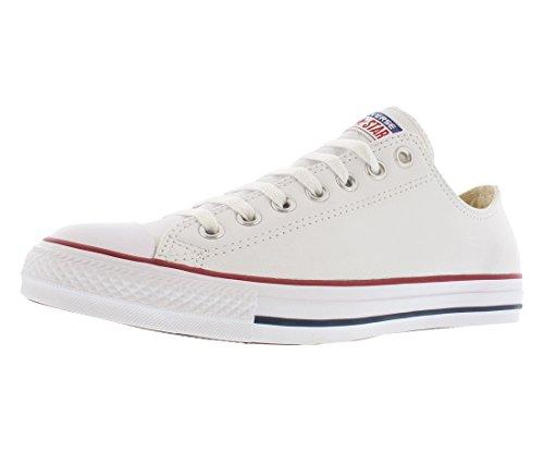 Converse Unisex Chuck Taylor Leather White Sneaker - 8 Men - 10 Women