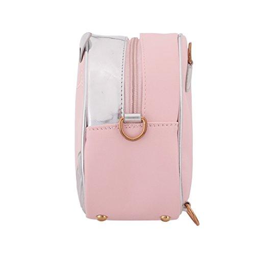Novias Boutique - Bolso mochila  para mujer plateado plata rosa