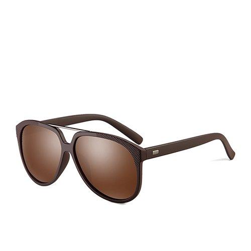 Brown Diseñador C3 de plástico Sol Aviador Hombres de polarizadas Sunglasses de TL Brown y Negro Gafas Mate de Sol Gafas de G15 para Viaje C1 Guía Gafas 5S64xqw