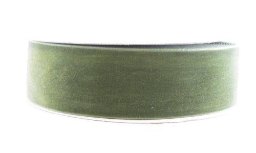 May Arts 1-1/2-Inch Wide Ribbon, Olive Velvet