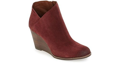 ce478de4ad23 Image Unavailable. Image not available for. Colour  Lucky Brand Women s Yakeena  Zip Wedge Bootie Size ...