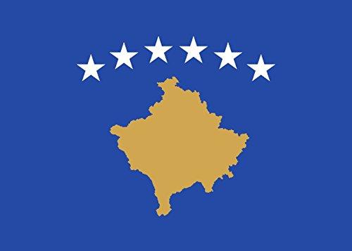 DIPLOMAT-FLAGS Kosovo Bandera | bandera paisaje | 0.06m² | 20x30cm Banderas de Coche
