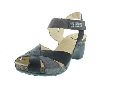 Think! 86574-09 - Sandalias de vestir de Piel para mujer Negro negro Negro - negro