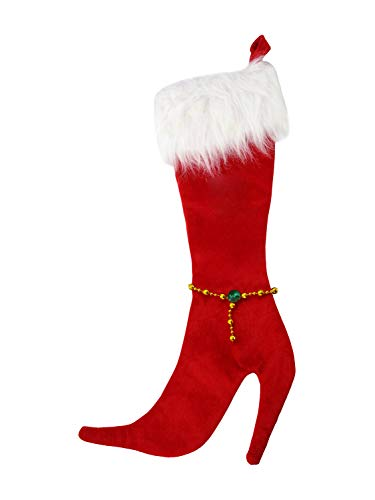 Forum Novelties High Heel Stocking, Red - Novelty Christmas Stockings