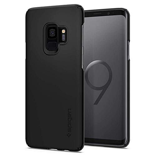 Spigen Thin Fit Galaxy S9 Case with SF Coated Non Slip Matte Surface for Excellent Grip and QNMP Compatible for Galaxy S9 (2018) - Black