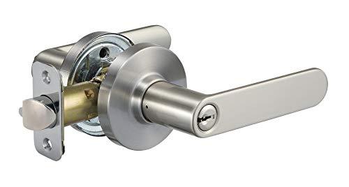 AmazonBasics Contemporary Reno Door Lever - Entry - Satin Nickel
